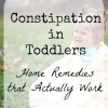 Constipation in Toddlers – Home Remedies