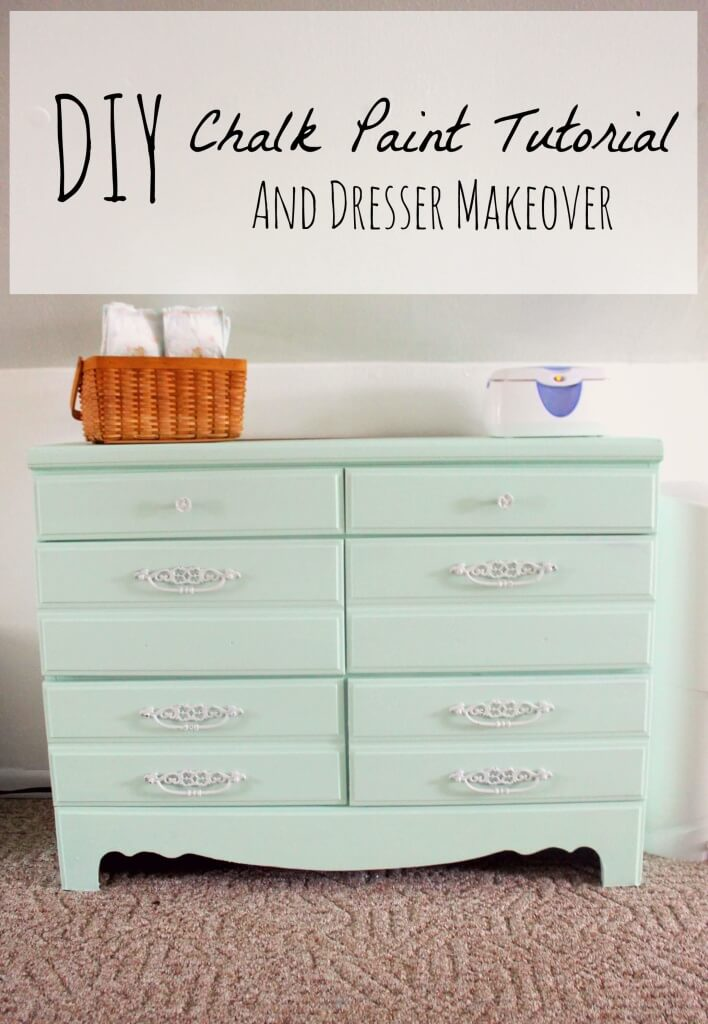 DIY Chalk Paint Recipe And Dresser Makeover