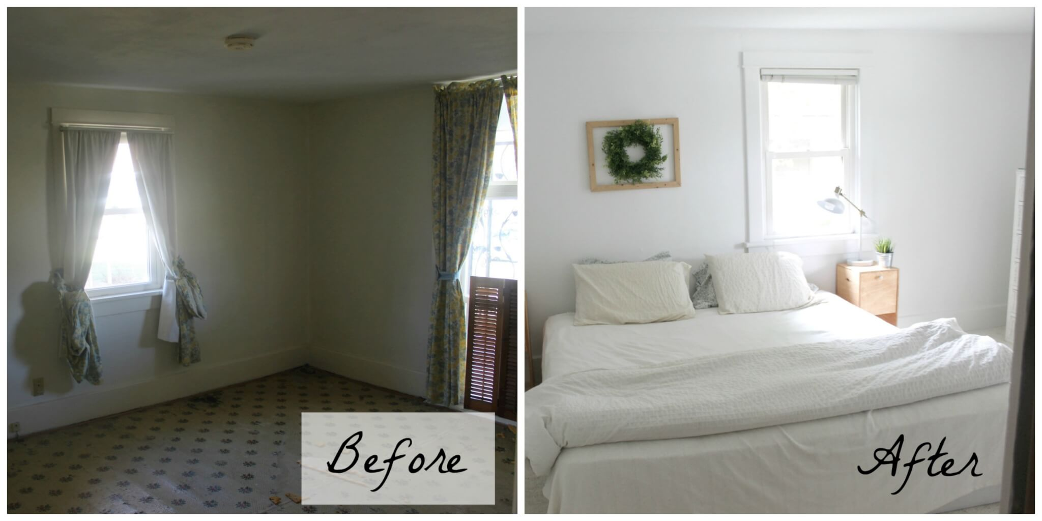 How to brighten a dark room master bedroom reveal