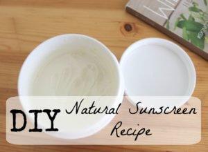 DIY Natural Sunscreen Recipe