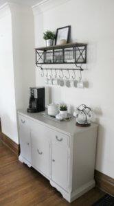 DIY Coffee Bar in Gray