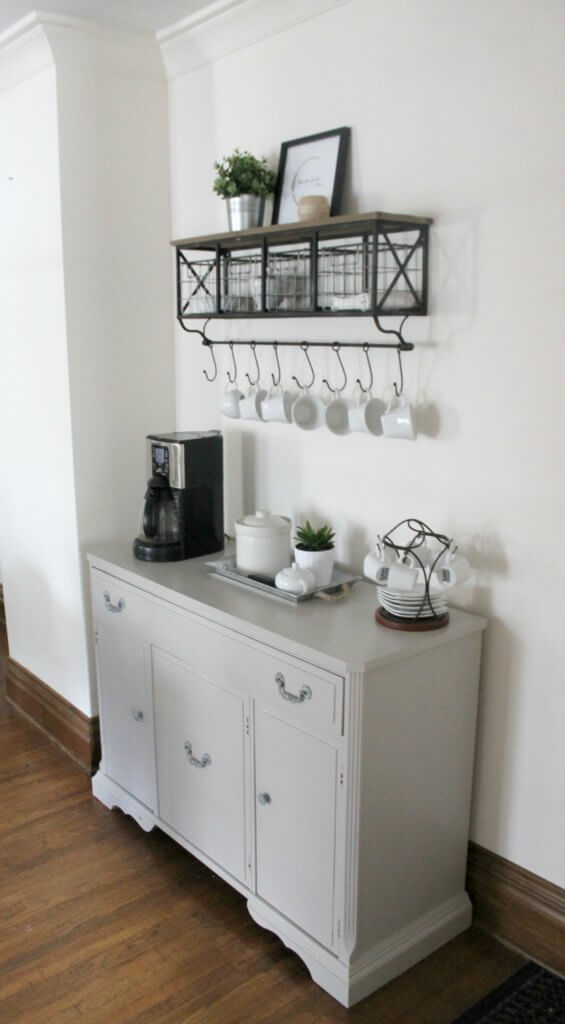 DIY Coffee Bar in Gray