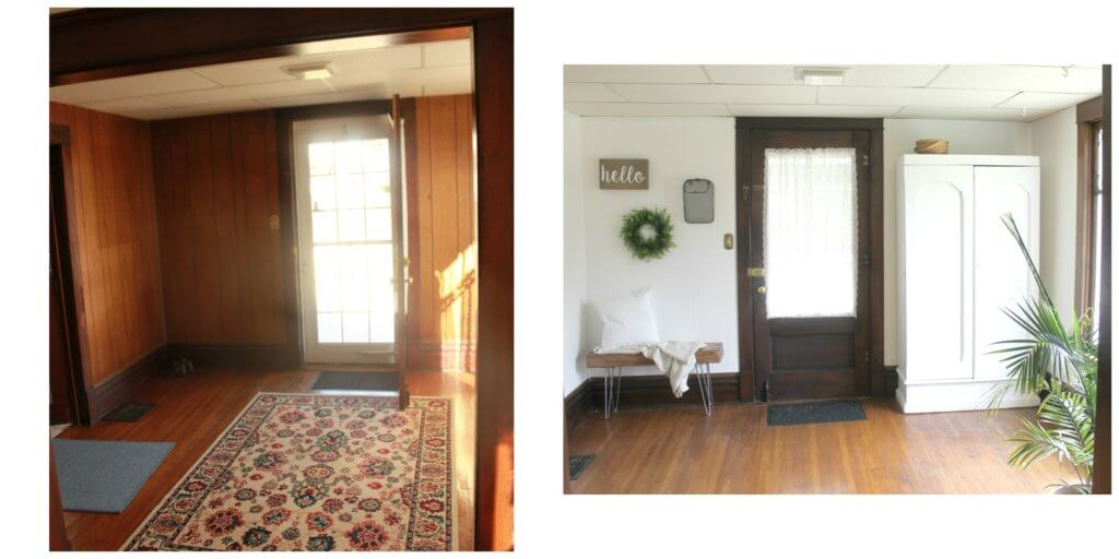 White Farmhouse Entryway