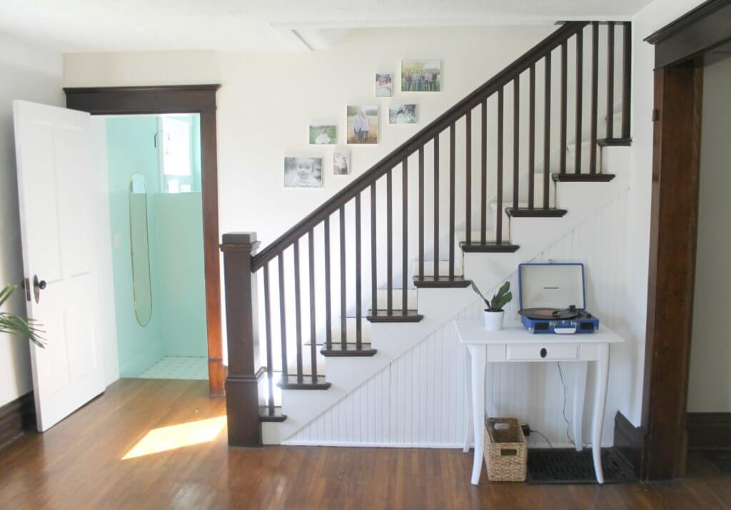 Modern Farmhouse Staircase Makeover