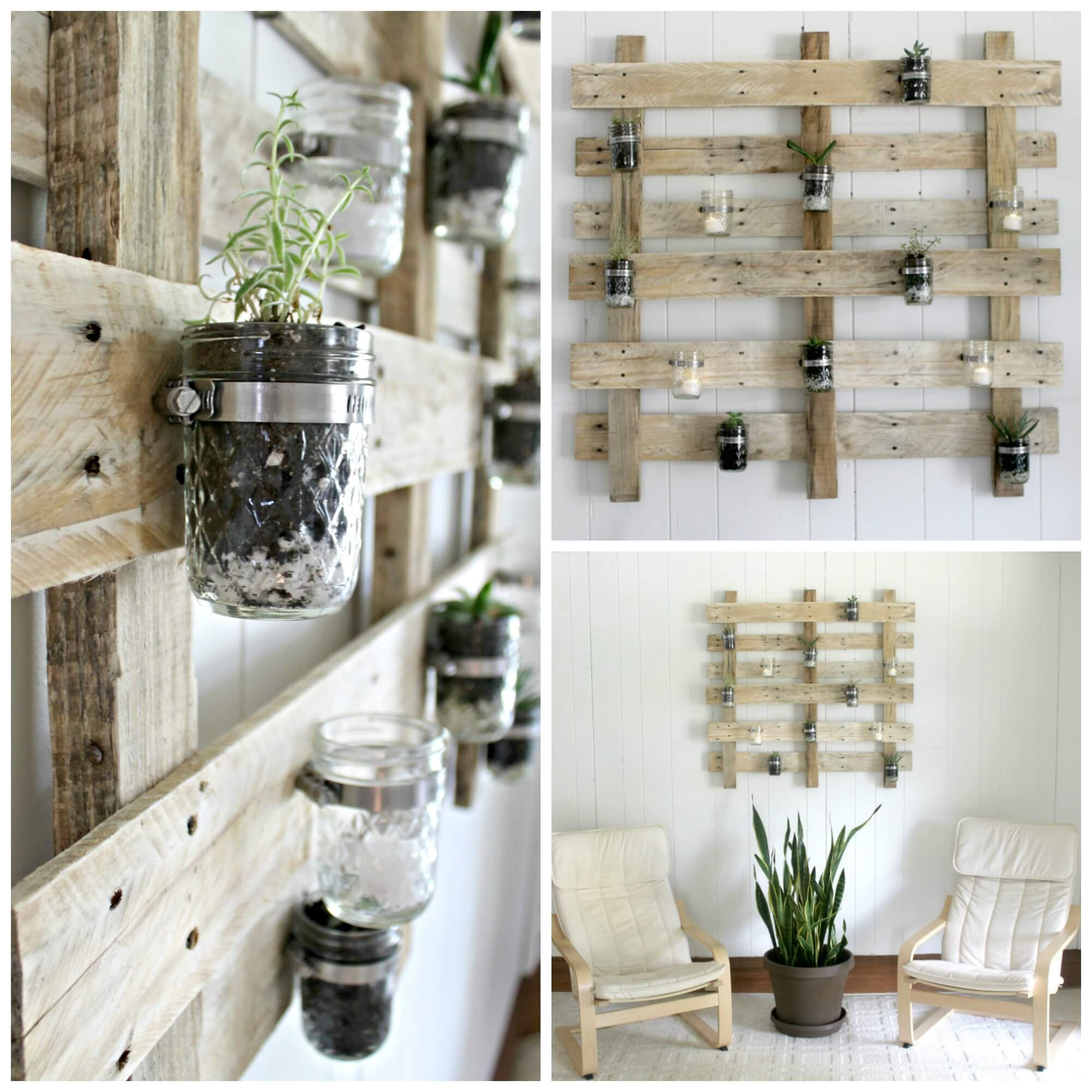 Pallet Wall Succulent Planter - The Definery Co
