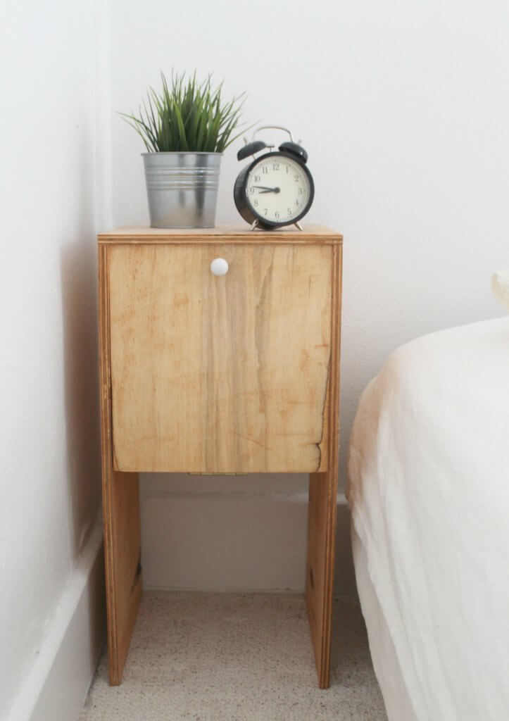 DIY $12 Plywood Nightstands