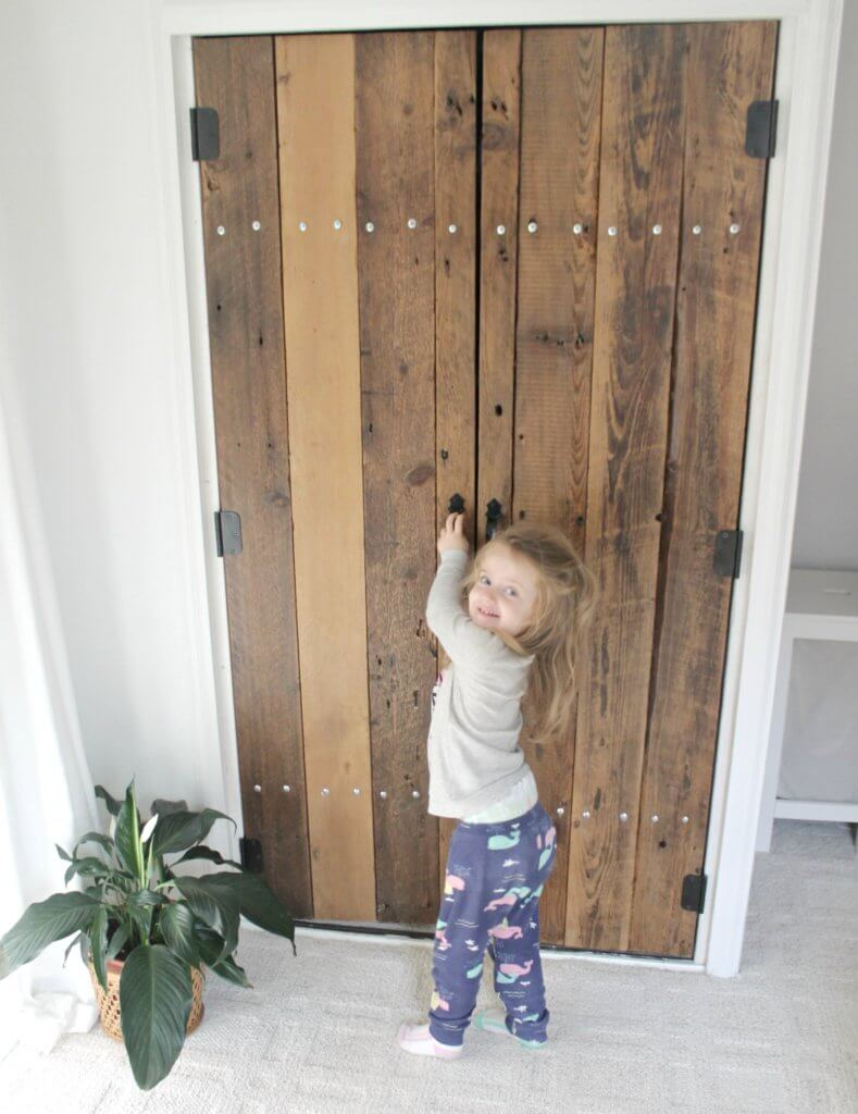 DIY Reclaimed Wood Closet Doors - The Definery Co