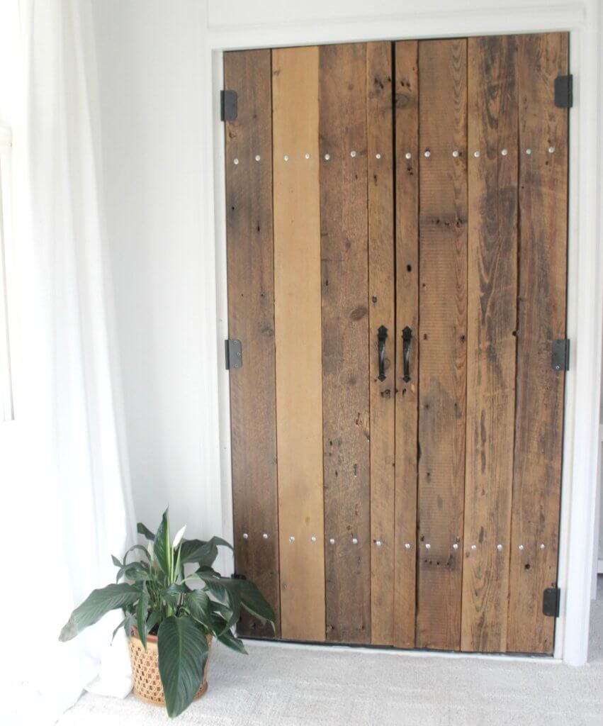 DIY Reclaimed Wood Closet Doors