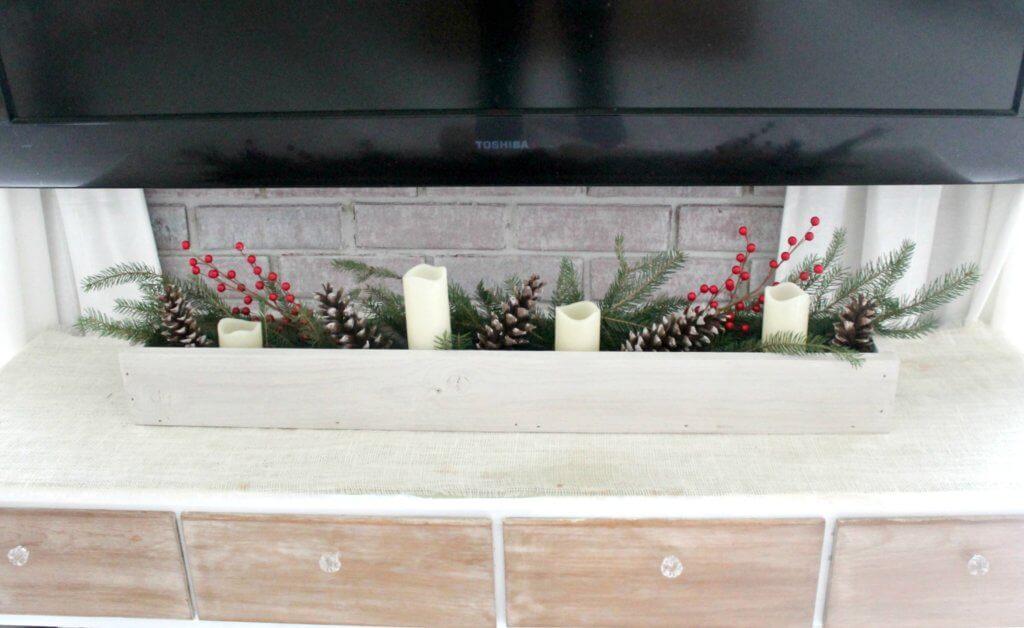 diy christmas centerpiece cheap or free decor the  long wooden box for table centerpiece
