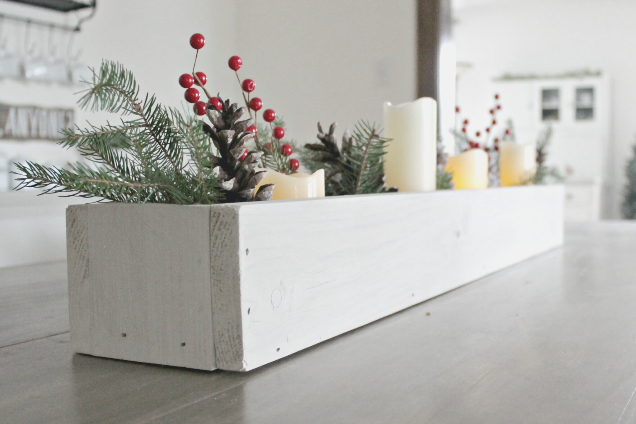 DIY Christmas Centerpiece -Cheap or Free Decor - The Definery Co