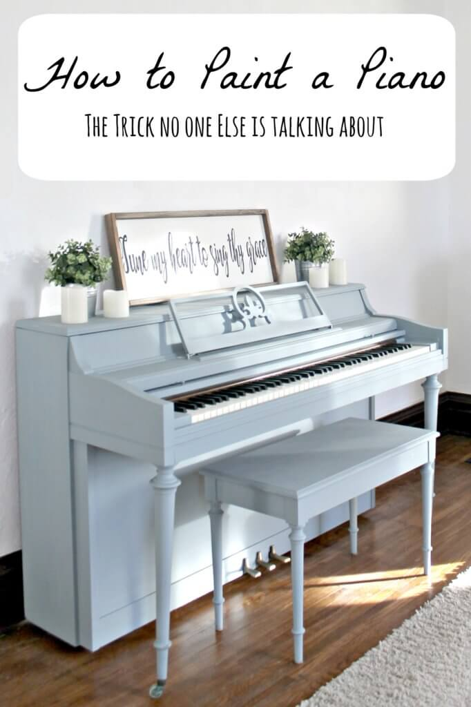 How to Paint a Piano (A Tip No One Else is Talking About)