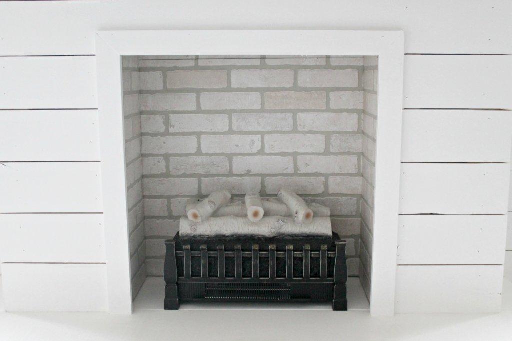 diy shiplap fireplace
