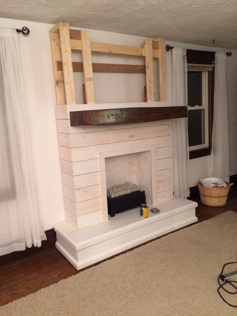 Top DIY Shiplap Fireplace - The Definery Co LL28