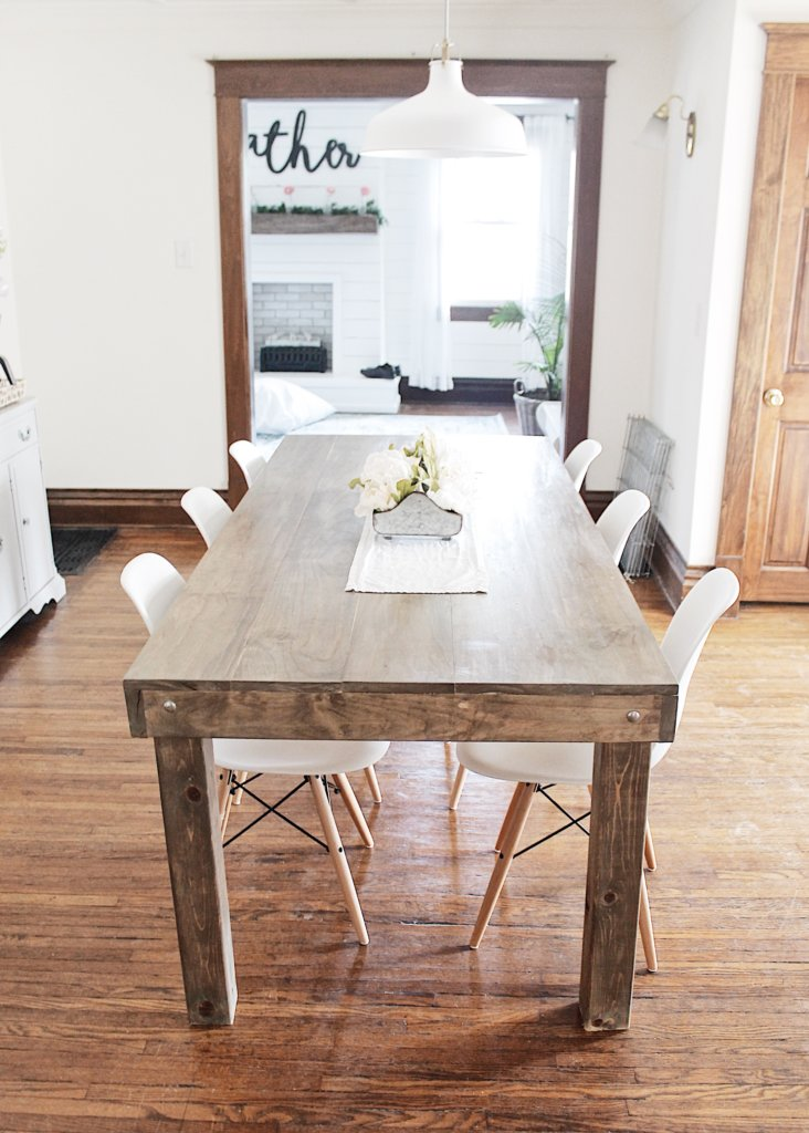 DIY Farmhouse Dining Table The Definery Co