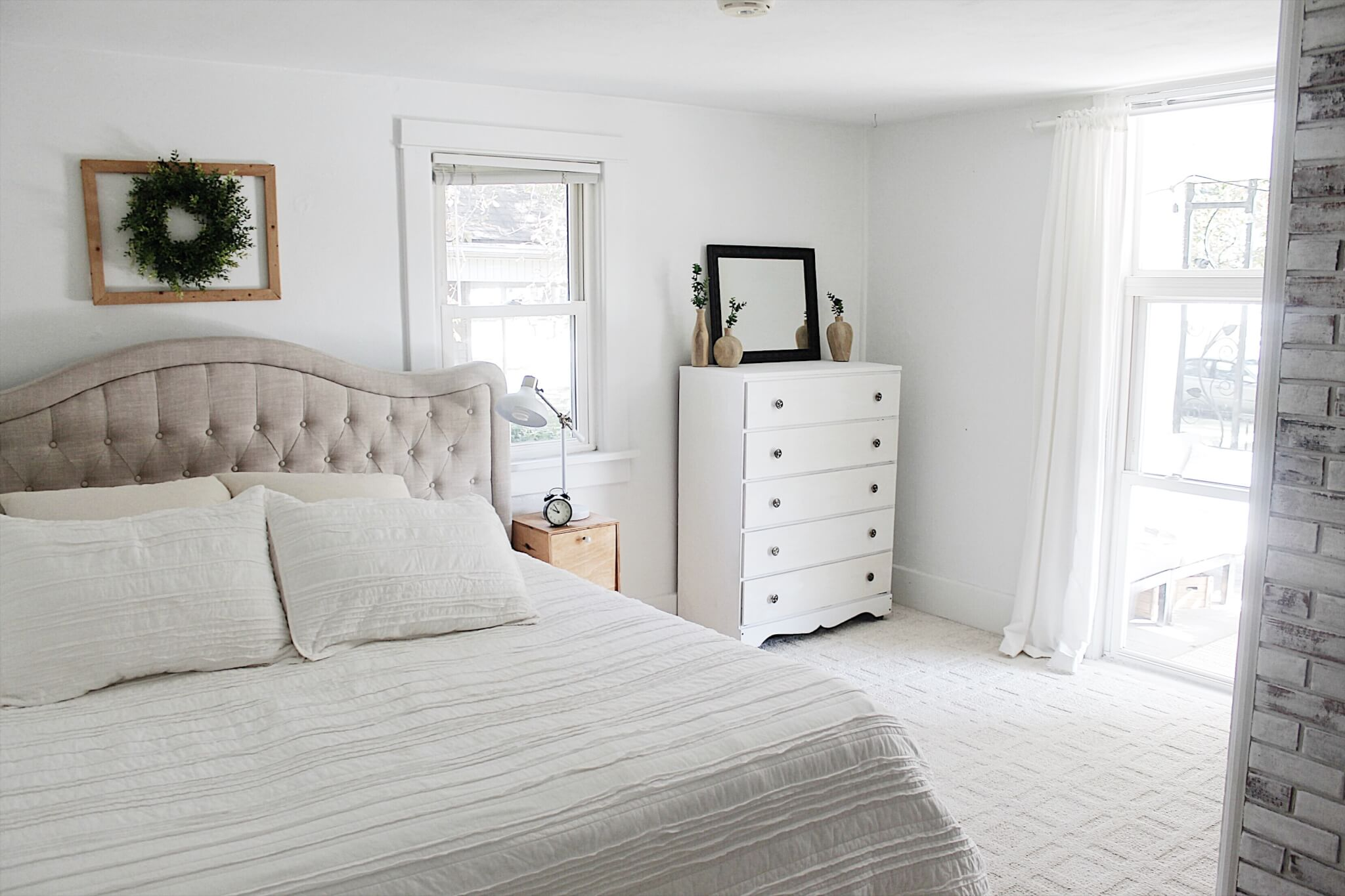 Modern farmhouse bedroom reveal the definery co for Modern farmhouse bedroom