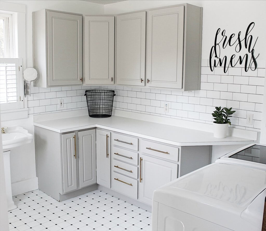 Modern laundry room makeover