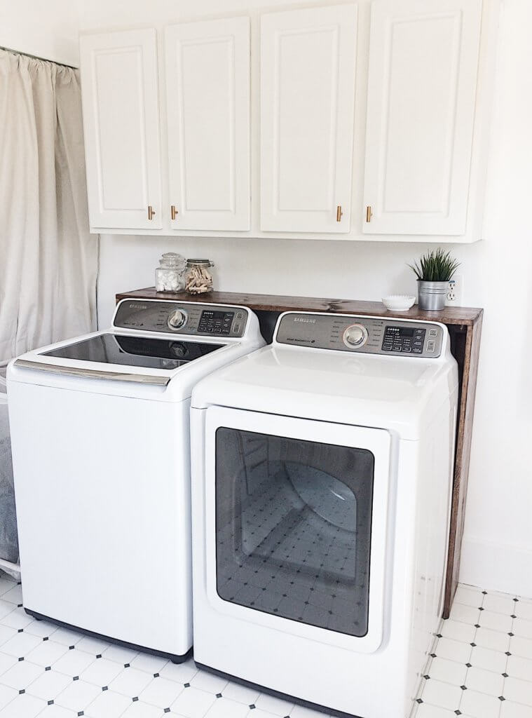 $100 Room Challenge Week 3- DIY Laundry Shelf