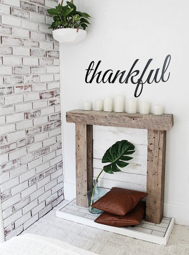 DIY Easy Faux Fireplace for Our Bedroom