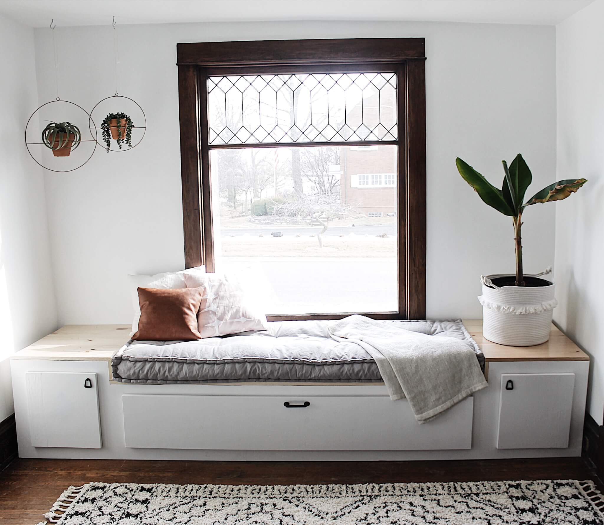 DIY Modern Window Seat