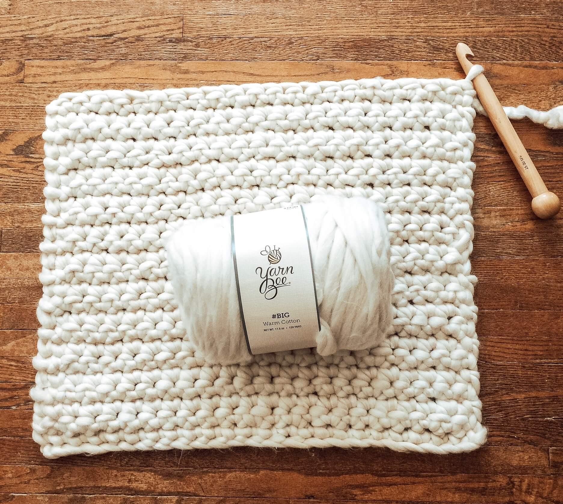 $100 Room Challenge Week 3–Crochet Ottoman