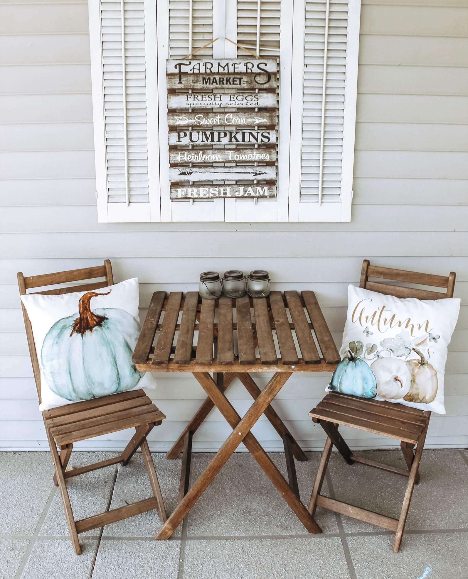 Fall farmhouse porch